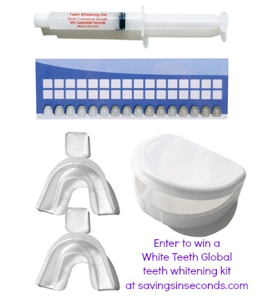 Enter to win a Teeth Whitening Kit at savingsinseconds.com