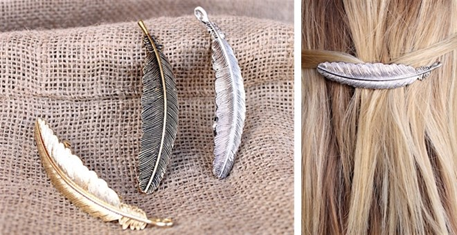 Feather hair clips for Maximum Ride fans - #affiliate Featured on savingsinseconds.com/hooray