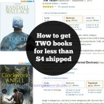 Have a bookish spring fling! Get 2 books for less than $4 shipped