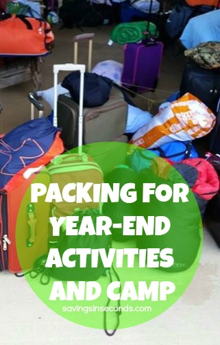 Pack for year-end activities and camp - savingsinseconds.com