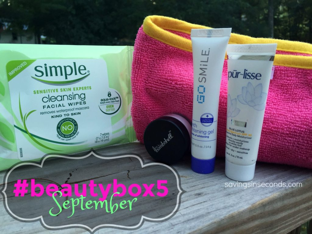 #BeautyBox5 September box - featured on savingsinseconds.com