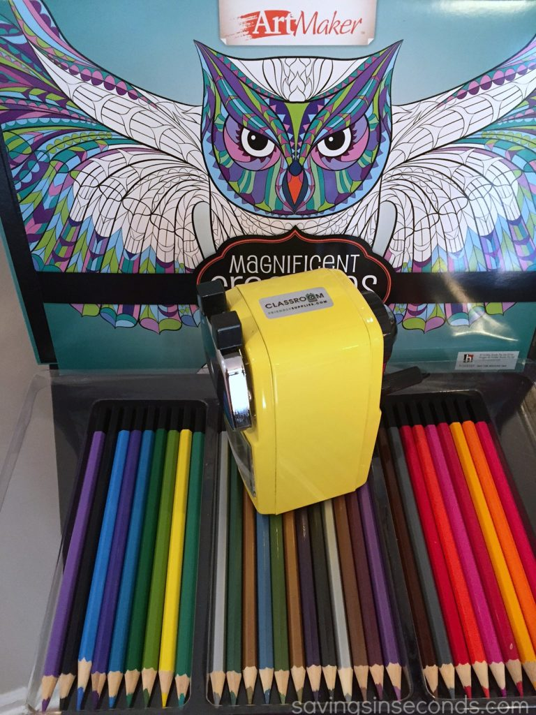 Classroom Friendly Supplies sharpener - the BEST! savingsinseconds.com