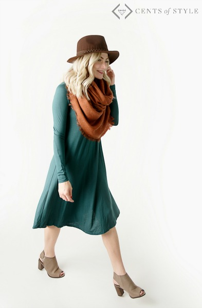 This season's comfortable fall dress - savingsinseconds.com affiliate link