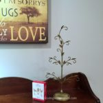 #LoveHallmark Gold Miniature Display Tree + Mini Porcelain Ornaments