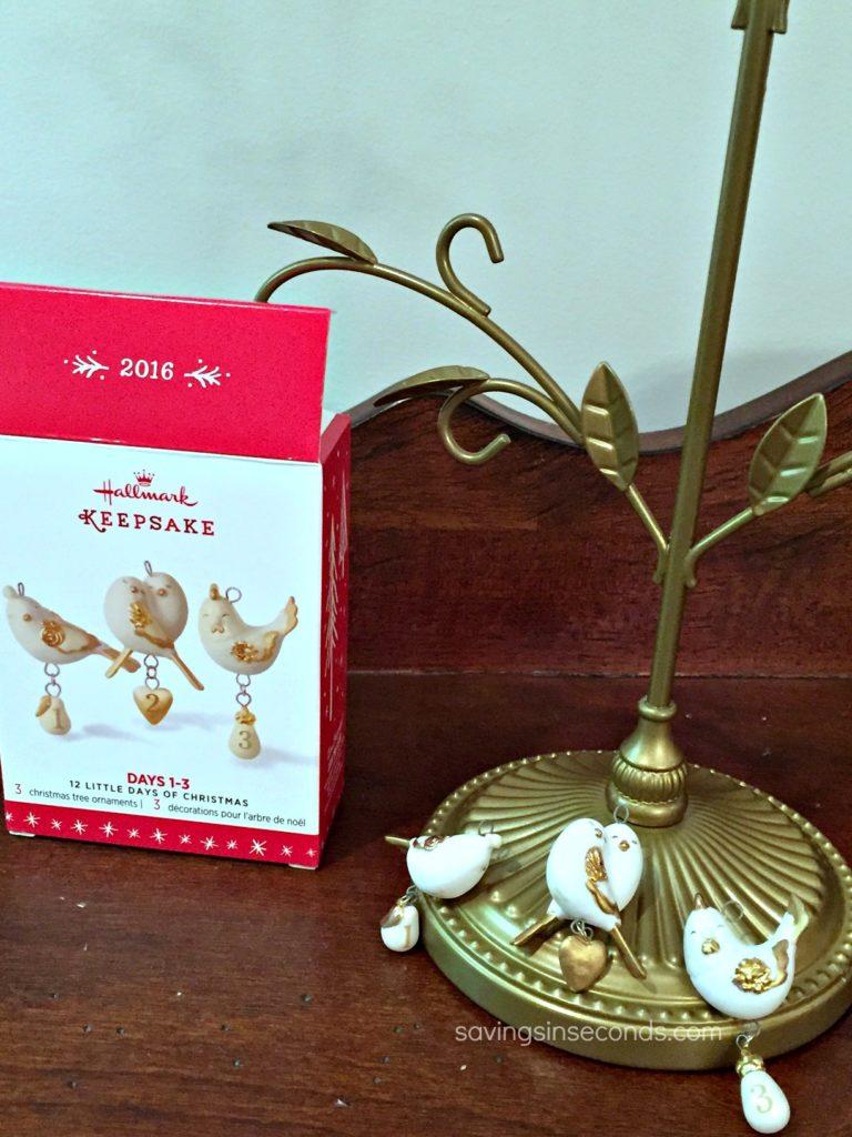 Enter to win the 12 Days of Christmas Days 1-3 Mini Porcelain Ornament set - savingsinseconds.com