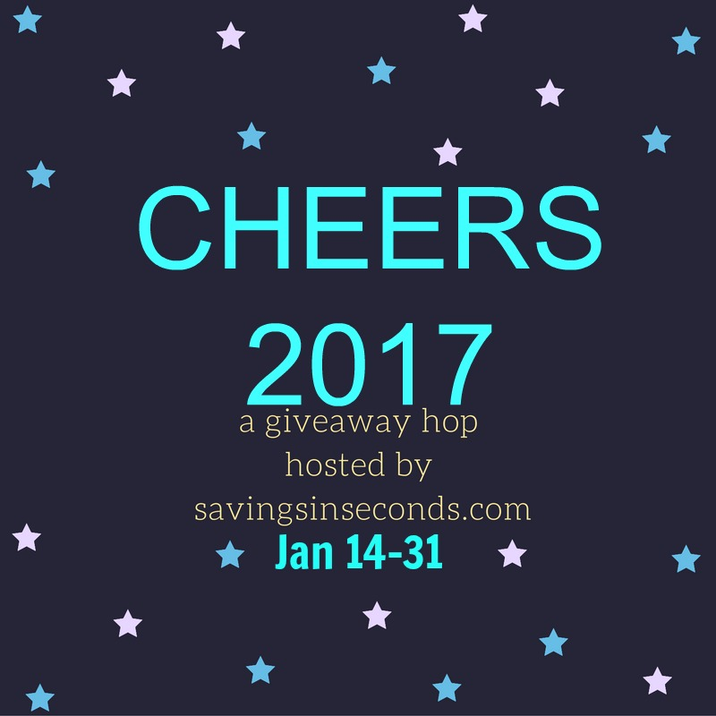 Cheers 2017 Giveaway Hop signups open - savingsinseconds.com