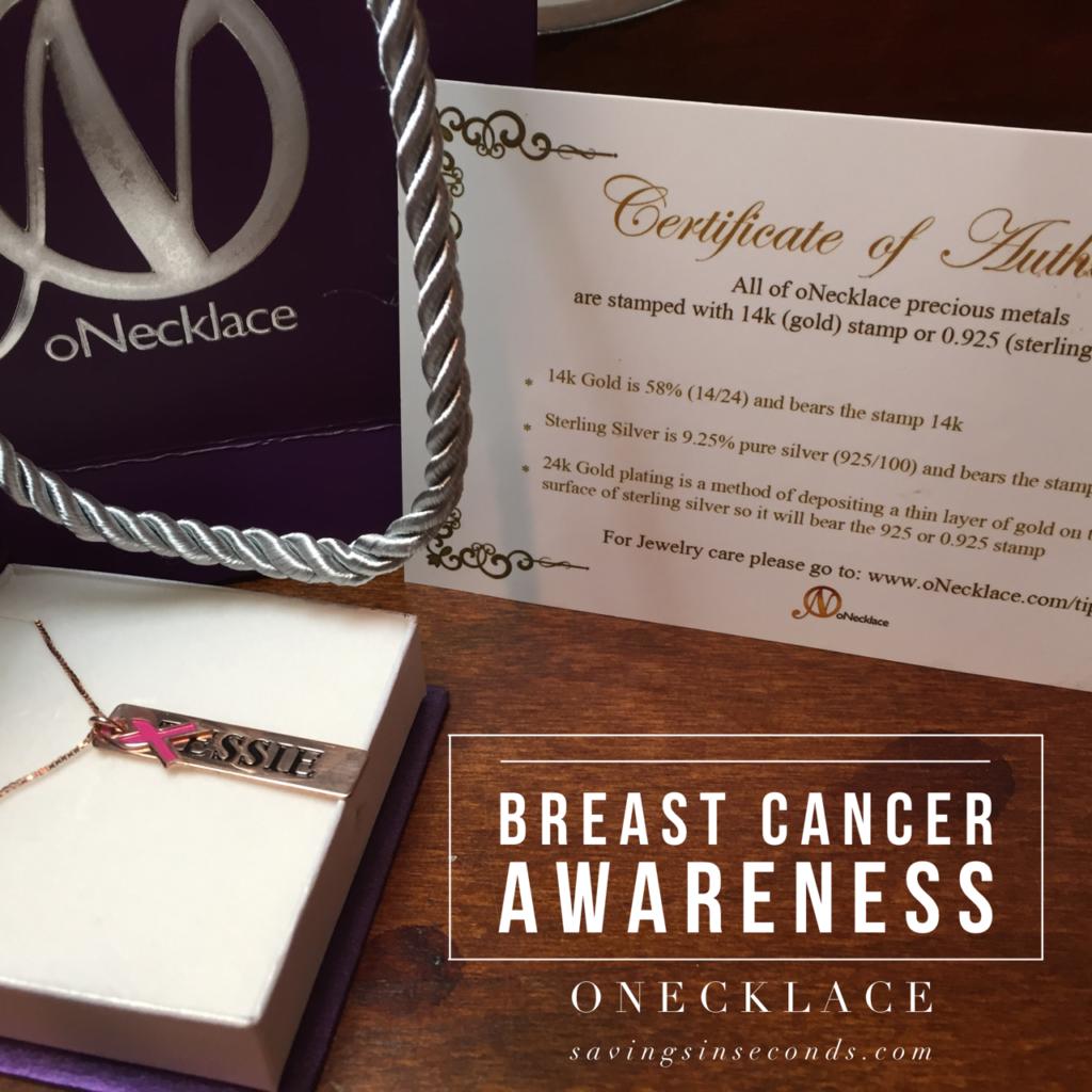 Breast Cancer Awareness oNecklace - savingsinseconds.com