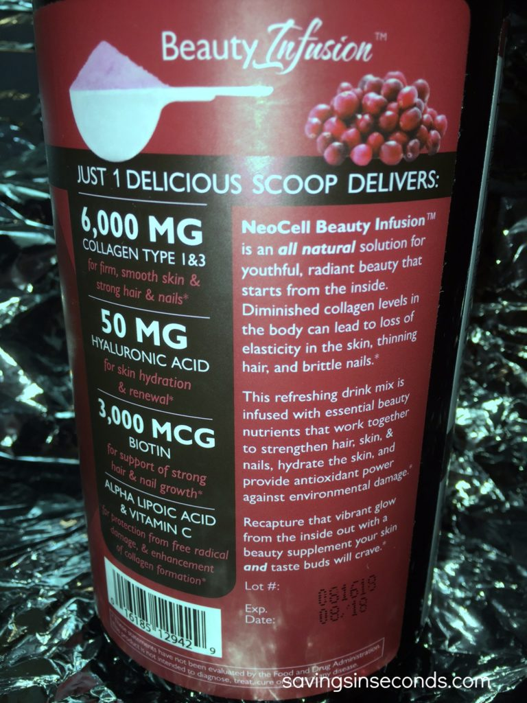 Neocell Beauty Infusion #giveaway - savingsinseconds.com