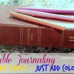 Bible Journaling made simple – just add color!