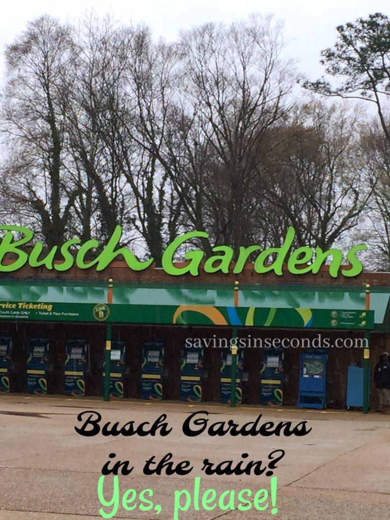 Busch Gardens In The Rain We Felt Like Celebrities