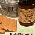 Chocolate Covered Cheesecake – camping style!