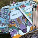 Wild Keepsake Coloring tin + books, pencils