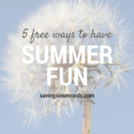 5 FREE Ways We Have Summer Fun