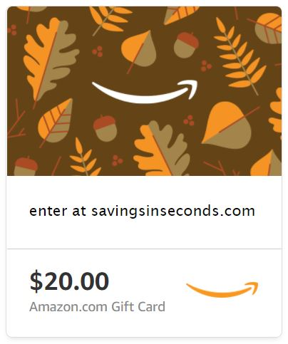 20 Amazon Gift Card Giveaway Savingsinseconds Com Savings In