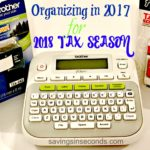 Getting organized for the 2018 tax season with the Brother P-Touch label printer