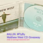 I'm #ALLIN with the new Matthew West CD #FlyBy #ad