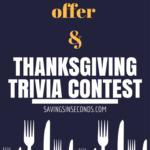 SCJohnson Thanksgiving Trivia Contest #SCJThanks +  $5 Mastercard offer #sponsored