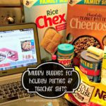 Chocolate Peanut Butter Cheerios Chex Muddy Buddies recipe — great for holiday parties and teacher gifts #ad