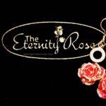 The Eternity Rose pink glazed 24k gold earrings