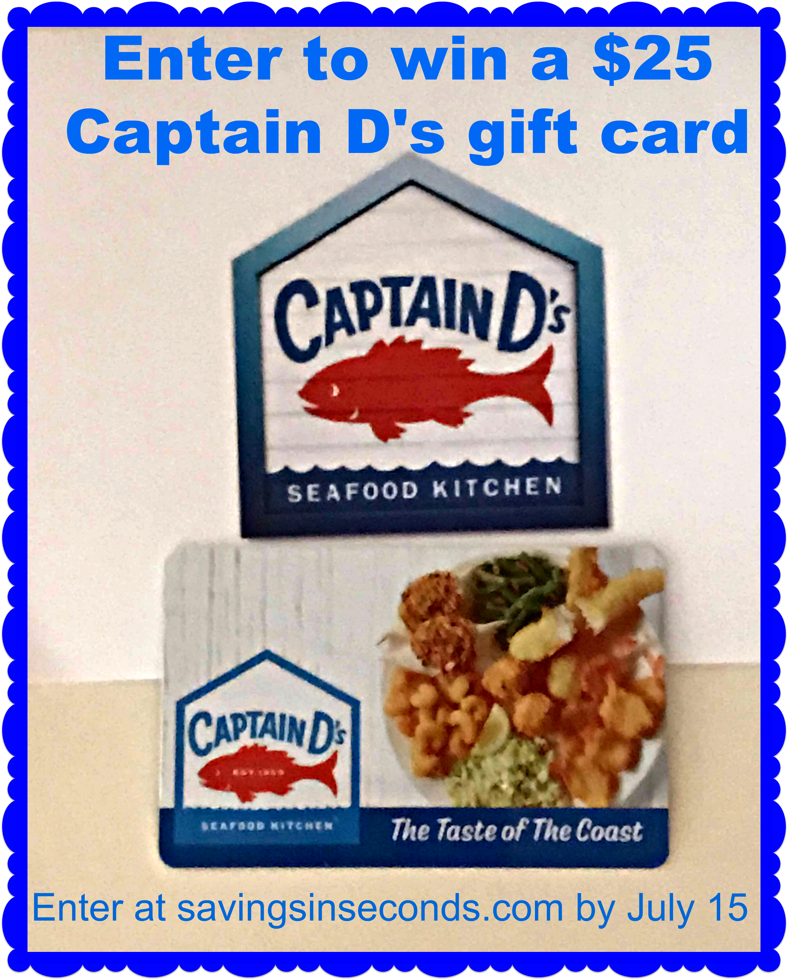 Captain d 39 s 5 for 5 deal giveaway 25 gift card for Captain d s batter dipped fish